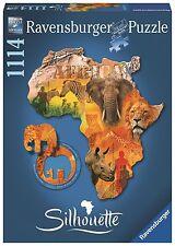 Ravensburger 16157 Afrikanischer Kontinent 1114 Teile Puzzle Silhouette