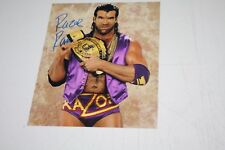 """WWF WWE WCW SCOTT HALL """"RAZOR RAMON"""" SIGNED 8X10 PHOTO NWO MEMBER"""