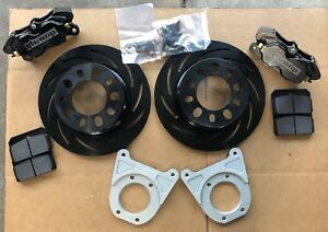 "STRANGE FORD 9"" PRO SERIES DISC BRAKE KIT WITH 2.50 BACKSPACING SLOTTED ROTORS"