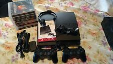 Sony PS3 Slim CECH-3001A 160GB Black Console w/2 Controllers,Headset+10 Games