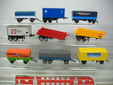 ai797-0, 5 #9X Wiking/Herpa H0 Trailer For Lorry/Truck Police East + LEISTRITZ