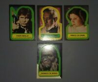 Vintage Star Wars TOPPS trading cards 1977 STICKER LOT Princess Leia Chewbacca