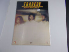 * b     BEE GEES-----TRAGEDY  -SHEET MUSIC--- vintage