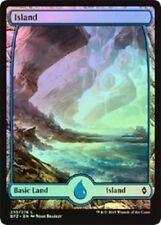 Full Art Land Island x 10 (2 each art) (Battle for Zendikar) MTG (Mint)