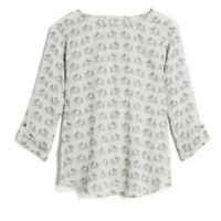 41 Hawthorn Stitch Fix Women's Size S Tunic Ellie 3/4 Sleeve Elephant Print Top