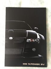 MG XPOWER SV / SV-R Brochure 2003, 2004, 2005