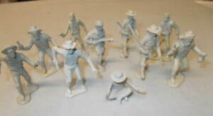 Marx Original Western Playsets Trappers and Miners(10) In Gray Plastic L@@K!!