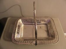 LOVELY VINTAGE SILVER PLATE EPNS BON BON / CAKE SERVING TRAY WITH ORNATE DETAIL