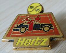 RARE PIN'S VOITURE PORSCHE NOIRE HERTZ ROLAND GARROS 95 ZAMAC AMC