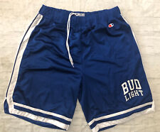 Vintage Bud Light Beer Champion Basketball Shorts Size XL Men's