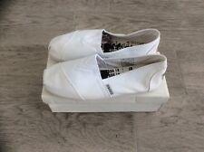 WOMENS DI BAGGIO SLIP ON CANVAS PUMPS WHITE SIZE UK 4 BOYS EUR 37
