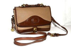 Vintage Dooney & Bouke All Weather Leather Crossbody Carrier Mini Briefcase USA