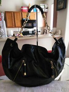 Authentic Bally X Large Black Patent Leather Handbag