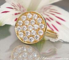 Reinheit SI Echte Diamanten-Ringe aus Gelbgold mit Brilliantschliff für Damen