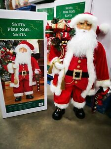 Standing Santa Claus 36 Inch (91.5cm) Traditional Red Fabric very nice made New