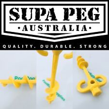 Supa Peg Sand Screw Tent Pegs Heavy Duty 300mm Camping Is Each