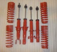 4 new red Struts/Shocks + lowering springs for 96-00 Honda Civic