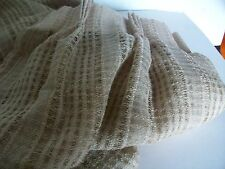 "Lace-Effect Pencil Pleat Curtains, Length 45.5"", Width 85"""