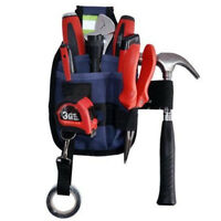 3-Pocket Professional Electrician Tool Belt Utility Pouch Work w/Tape Buckle 2