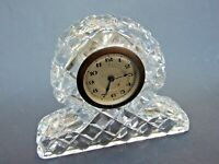 Antique Art Deco  Bohemian Cut Crystal Mantle Clock Working VGC Gift