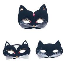 BLACK CAT DOMINO Occhi Maschera Halloween venitian costume di scena