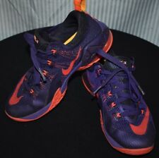 Nike Air Max Lebron 12 Low Purple Citrus Kids Youth Shoes Size 6.5Y 744547-565