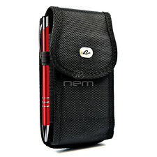 Vertical Heavy Duty Rugged Cover Belt Case Pouch For HTC myTouch 4G / HD Panache