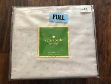 Kate Spade Full Sheet Pillowcase Larabee Polka Dot Light Dove Gray 4 Piece Set