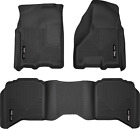 Weatherbeater Front & 2nd Seat Floor Liners Fits 2009-2018 Dodge Ram 1500 Black