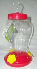 Garden Collection Hummingbird Feeder Plastic Hanging 6.75 Inches Tall