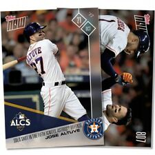 2017 TOPPS NOW #807 JOSE ALTUVE SOLO SHOT IN THE FIFTH IGNITES ASTROS OFFENSE