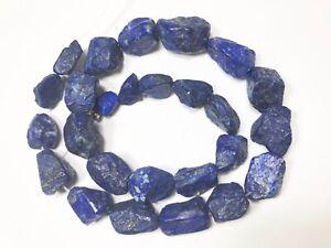 16.5''Natural Blue hammer cut nugget Lazuli Lazulite with Gold Pyrite L534