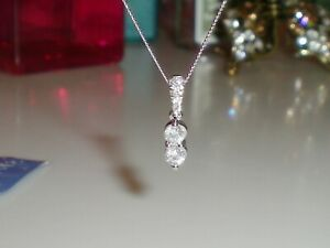 *EVER US* 14K White Gold 1/4ct Diamond Necklace  💎  KAY 💎  NEW WITH TAG!