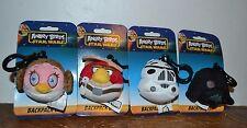 4 Angry Birds Star Wars Backpack Clips Darth Vader Princess Leia Trooper Luke