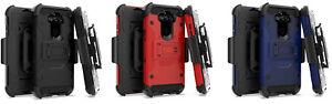 For LG Rebel K31 L355DL Tactical Clip + Hybrid Case Phone Cover