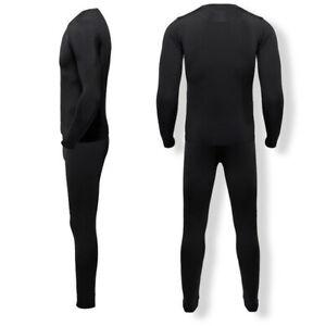 Men's Fleece Thermal Underwear Set Long Johns Base Layer for Ski Running Cycling