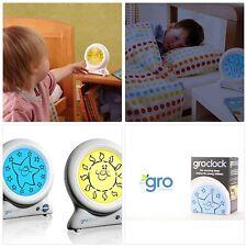 Grow Horloge Sleep Trainer Enfants nuit sommeil réveil Kids Bed Time Bright écran