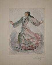 Houben - Dessin signée - Flamenco