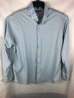 Peter Millar Summer Comfort Long Sleeve Button Down Plaid Shirt Size XL A14