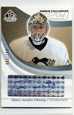 2003-04 SP Game Used Marc-Andre Fleury Rookie Exclusives Autograph #ed 3/100
