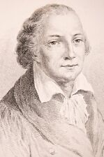 Portrait du musicien Cimarosa 19°eme estampe Compositore italiano