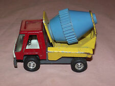 VINTAGE TOY 1970S TOPPER ZOOMER BOOMER  MINI METAL BLUE CEMENT MIXER TRUCK