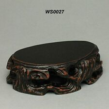 Wood Stand For Figurine, Netsuke Carving Display WS0027