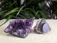 1 Amethyst Magnet Amethyst Geode Crystal Quartz Druze Cluster Gemstone Specimen.