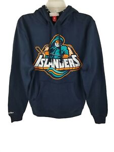 New Men's New York Islanders Hockey Mitchell and Ness Hoodie NHL Size Small