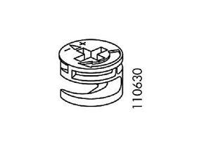 12 Pack BLACK FINISH IKEA Cam Lock Nuts Eccentric Cases Part # 110630