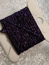 Dark Purple 4ply Heavy Metallic Thread x 3m Wonderfil Sizzle