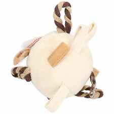 Super Soft Puppy Small Dog Natural Nippers Loopy Fun Ball With Squeak 9cm