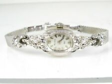 Antique 14k White Gold Bulova 23j Ladies Watch 16.9g