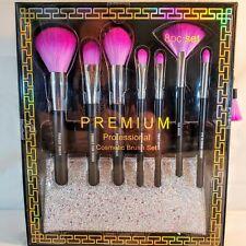 Premium Professional Cosmetic Makeup Brush Set 8 pieces with Travel Case